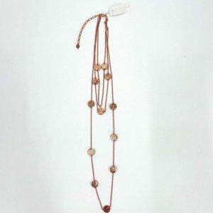 Sterling Forever Rose Gold 3 tier layered necklace